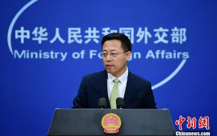 中国外交部发言人赵立坚3日在北京主持例行记者会