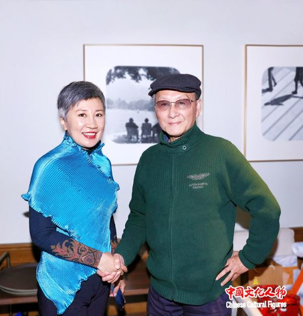 中国著名配音艺术家童自荣会见上海知名投资人荀为华